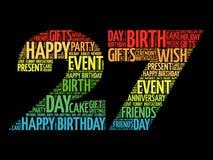 Happy 27th birthday word cloud