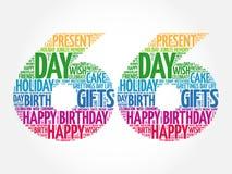 Happy 66th birthday word cloud