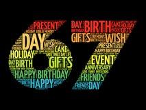 Happy 67th birthday word cloud
