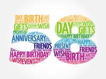 Happy 58th birthday word cloud