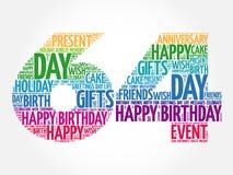 Happy 64th birthday word cloud