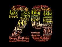 Happy 29th birthday word cloud