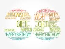 Happy 38th birthday word cloud