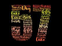 Happy 57th birthday word cloud