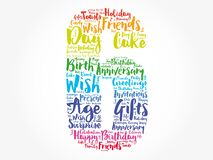 Happy 6th birthday word cloud