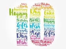 Happy 10th birthday word cloud