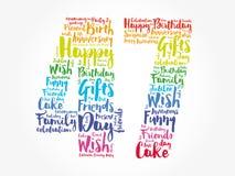 Happy 47th birthday word cloud