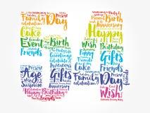 Happy 54th birthday word cloud