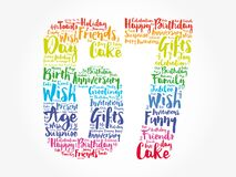 Happy 67th birthday word cloud, holiday concept background