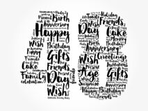 Happy 48th birthday word cloud, holiday concept background