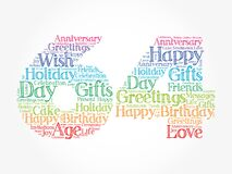 Happy 64th birthday word cloud, holiday concept background