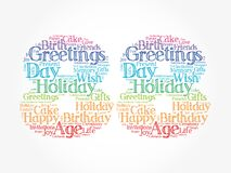 Happy 88th birthday word cloud, holiday concept background