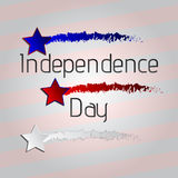 Happy 4th of July, American Independence Day striped background a set of three stars. Vector illustration Royalty Free Stock Image
