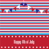 Happy 4th of July. Background Royalty Free Illustration