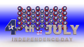 Happy 4th of July Stock Photo