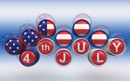 Happy 4th of July Background. L, high resolution 3d render Royalty Free Stock Photography