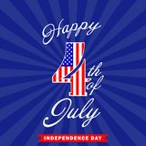 Happy 4th of July background. Fourth of July design. USA Independence day decoration. Vector illustration. Happy 4th of July background. Fourth of July design stock illustration