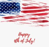 Happy 4th of July background. USA Independence day background. Happy 4th of July. Vector abstract grunge flag with text. Template for banner, greeting card Stock Photography