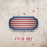 Happy 4th of July Banner in American Flag Style. Vector Design Element Royalty Free Illustration