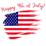 Happy 4th of july banner. Available in vector format Stock Images