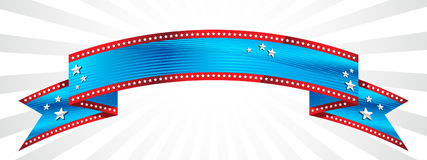 Happy 4th of July banner vector. Red white and blue American flag banner Royalty Free Stock Images