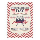 Happy 4th of July BBQ grill poster. Template for fourth of July BBQ party. USA independence day background. Vector EPS. Happy 4th of July BBQ grill poster Stock Photography