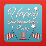 Happy 4 th of July card United States of America. Happy independ Stock Photo