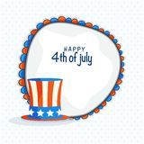4th of July celebration background. Happy 4th of July celebration background with American Flag colors Hat vector illustration