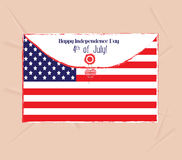 Happy 4th of July envelope greeting card Royalty Free Stock Image