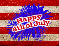 Happy 4th of July Graphic Logo. Happy 4th of july day theme graphic design stock illustration