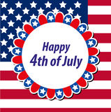 Happy 4th july greeting card, poster. American Independence Day template for your design. Vector illustration. Happy 4th july greeting card, poster. American Stock Image