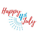Happy 4 th July Greeting Card. Vector illustration. Happy 4 th July Greeting Card with Font. Vector illustration vector illustration