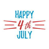 Happy 4 th July Greeting Card. Vector illustration. Happy 4 th July Greeting Card with Font. Vector illustration stock illustration