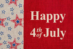 Happy 4th of July greeting Royalty Free Stock Image