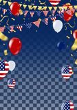 Happy 4th of July holiday banner , USA independence day card. Eps.10 Royalty Free Stock Photography