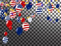 Happy 4th of July holiday banner. USA Independence Day Celebrati. On Banner. National American Greeting. Vector Royalty Free Stock Image