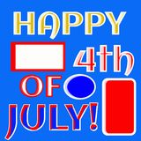 Happy fourth of July illustration vector red white blue banner. Happy 4th of July illustration vector for your creative needs and ideas with room to add your own stock illustration