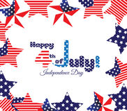 Happy 4th of July. Independence Day.  Royalty Free Stock Photos