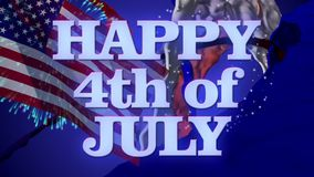 Happy 4th of July! stock video