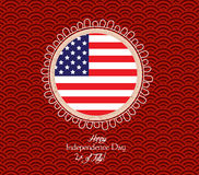 Happy 4th of July. Independence Day - button Badge Stock Images