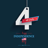 Happy 4th of July - Independence Day card or background. America. N flag Stock Photos