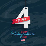 Happy 4th of July - Independence Day card or background. America. N flag Stock Image