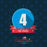 Happy 4th of July - Independence Day card or background. America. N flag Stock Images