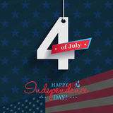Happy 4th of July - Independence Day card or background. America Stock Photos
