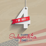Happy 4th of July - Independence Day card or background. America. N flag Stock Photography
