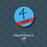 Happy 4th of July - Independence Day card or background. America. N flag Royalty Free Stock Photo
