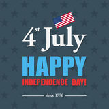 Happy 4th of July - Independence Day card or background. America Stock Image