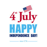 Happy 4th of July - Independence Day card or background. America. N flag Royalty Free Stock Photography