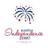 Happy 4th of July - Independence Day card or background. Royalty Free Stock Photos
