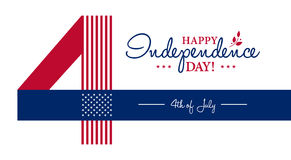 Happy 4th of July - Independence Day card or background. Royalty Free Stock Image